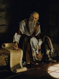 St Paul in chains writing an Epistle